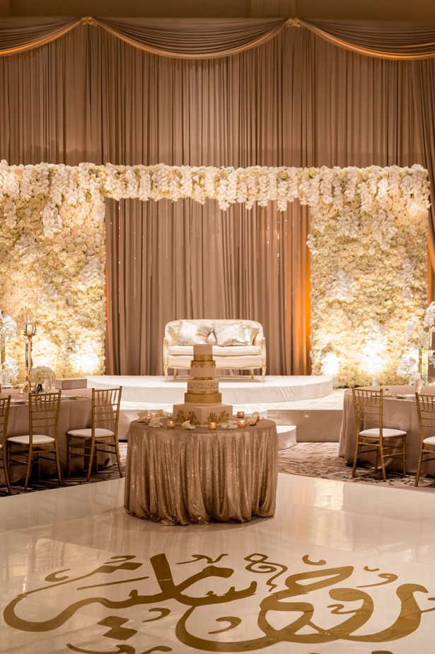 White and gold luxury wedding reception - Photographer: Julia Franzosa