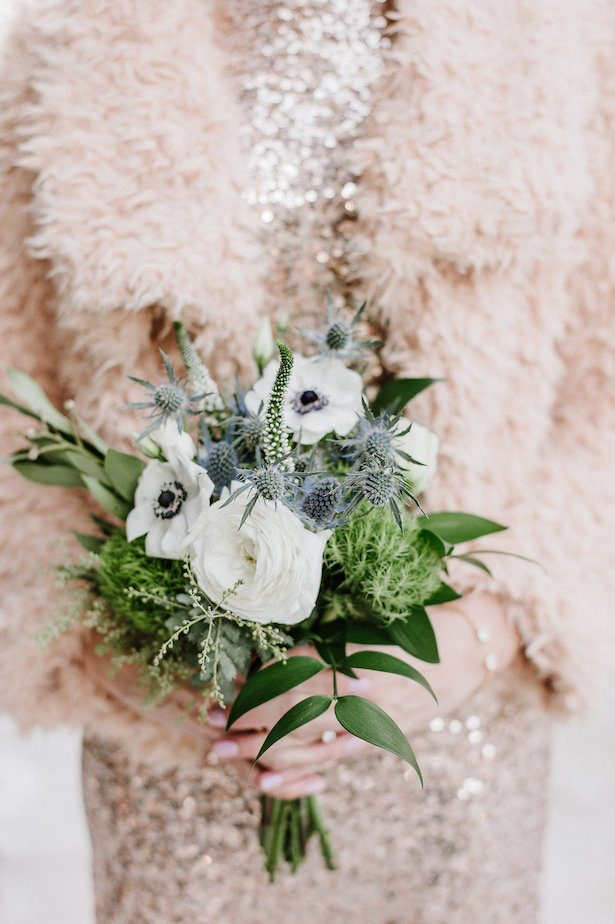 Winter Wedding Bouquet for bridesmaid- Nicole Jansma Photography