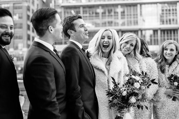 Winter chicago wedding party - Nicole Jansma Photography