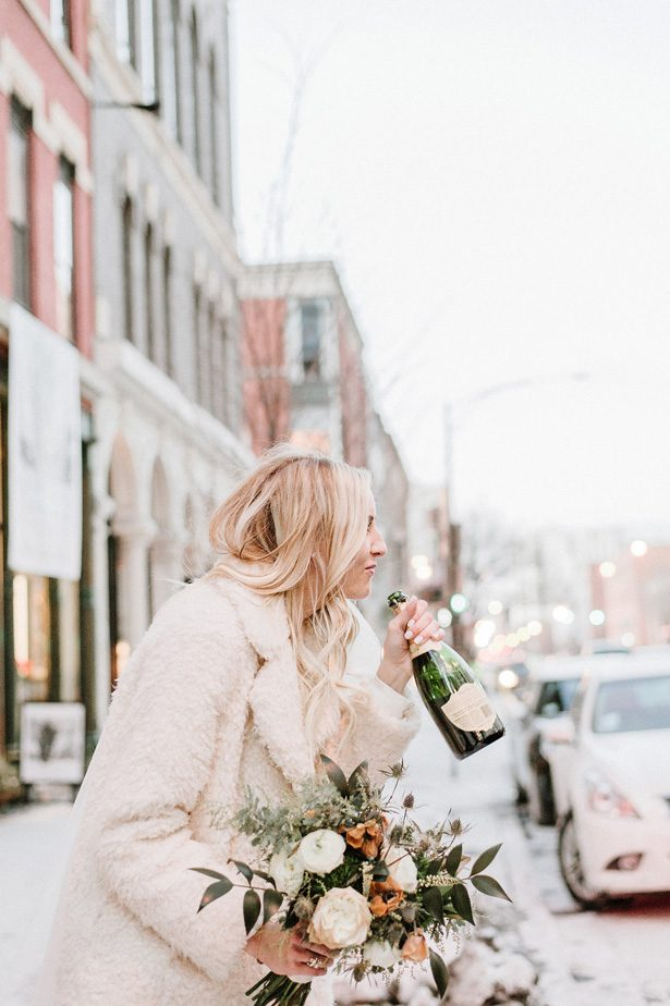 Winter wedding sophisticated bride- Nicole Jansma Photography