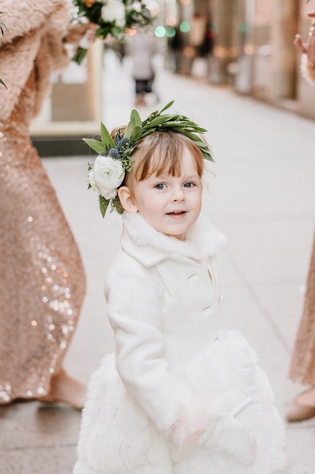 Wnter wedding flower girl dress- Nicole Jansma Photography
