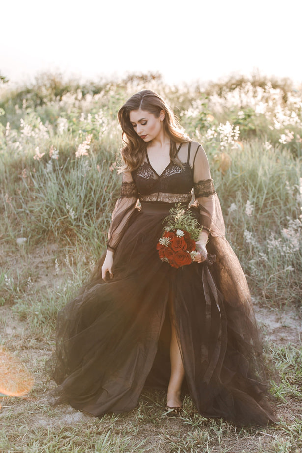 Black Wedding dress - Daylin Lavoy Photogaphy