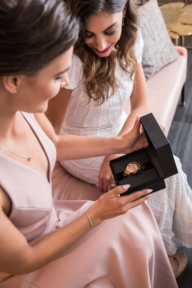 Bridesmaid Gift by Movado Kay Jewelers - Photography: Gerber Scarpelli Weddings