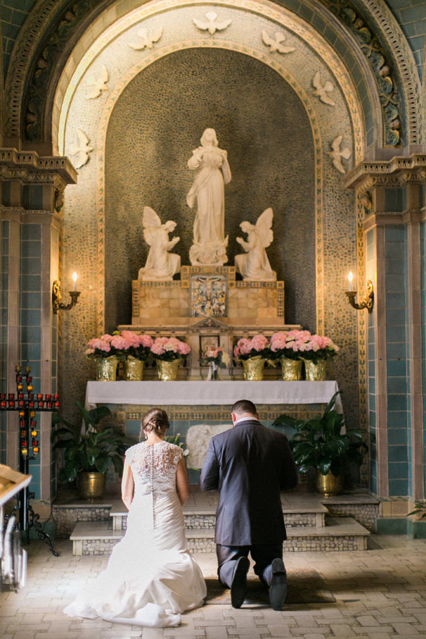 Church Wedding Ceremony Decor - Almond Leaf Studios