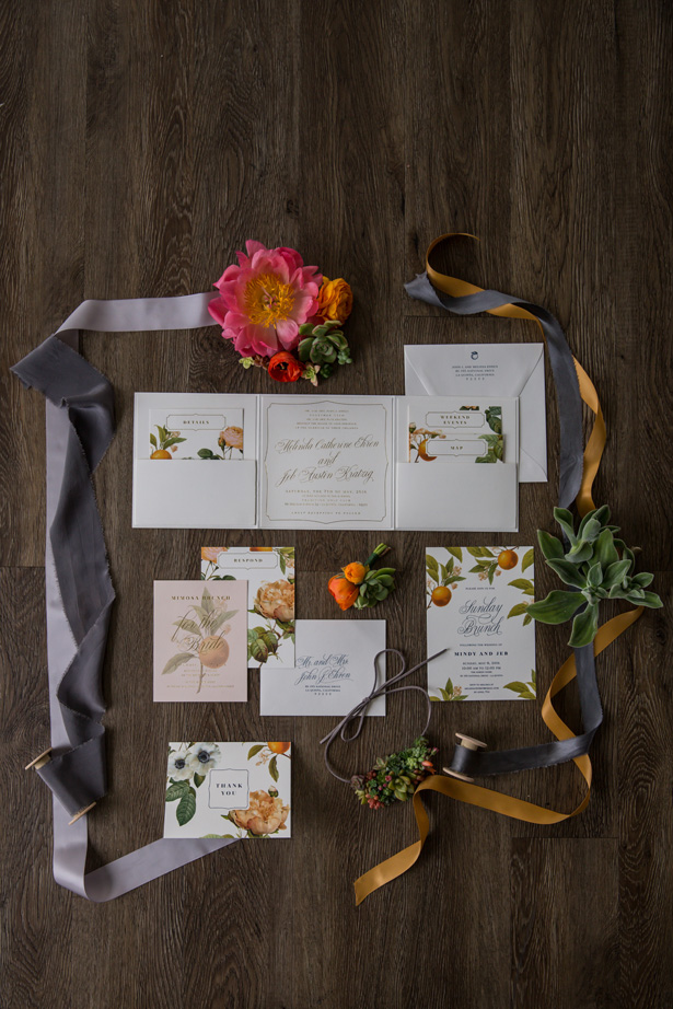 Citrus wedding invitations - OANA FOTO