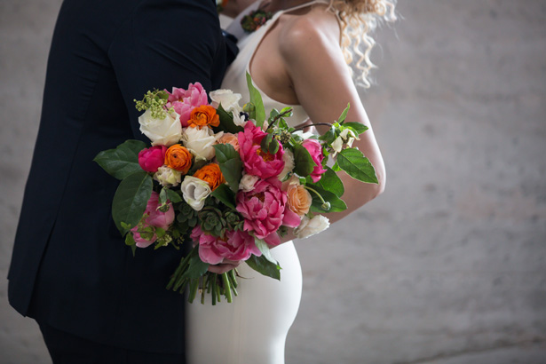 Colorful peony wedding bouquet - OANA FOTO
