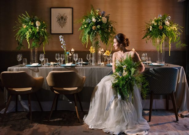 Greenery Wedding Tablescape - Tell Your Story Photography
