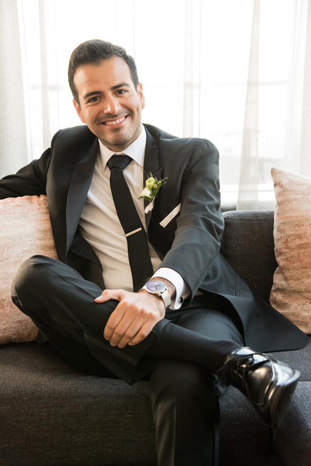 Grooms Look Black Suit - Photography: Gerber Scarpelli Weddings