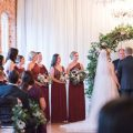 Indoor wedding ceremony - Photography by Marirosa