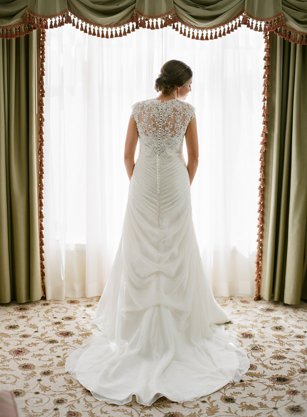Lace Back Wedding Dress - Almond Leaf Studios