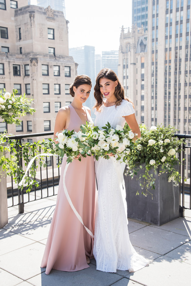Long blush bridesmaid dress - Photography: Gerber Scarpelli Weddings