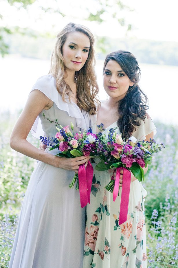 Mismatched pastel bridesmaid dresses - George and Claudia Photography