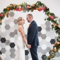Modern geometric wedding ceremony arch - OANA FOTO