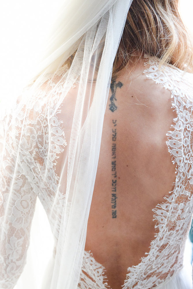 Lace Back Wedding Dress - Marina Claire and Company