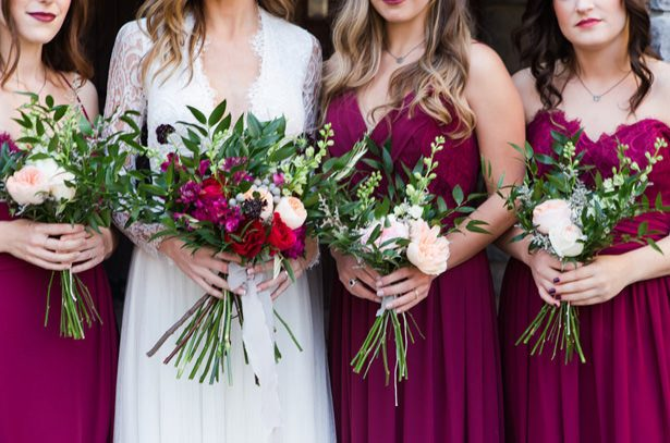 Wild Wedding Bouquets - Marina Claire and Company