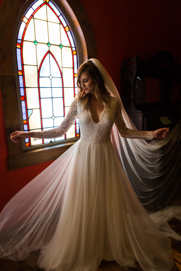 Long Sleeve Wedding Dress - Marina Claire and Company