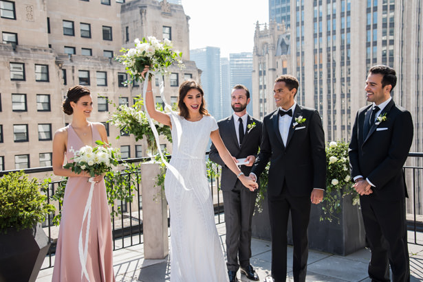 Rooftop Wedding Ceremony - Photography: Gerber Scarpelli Weddings