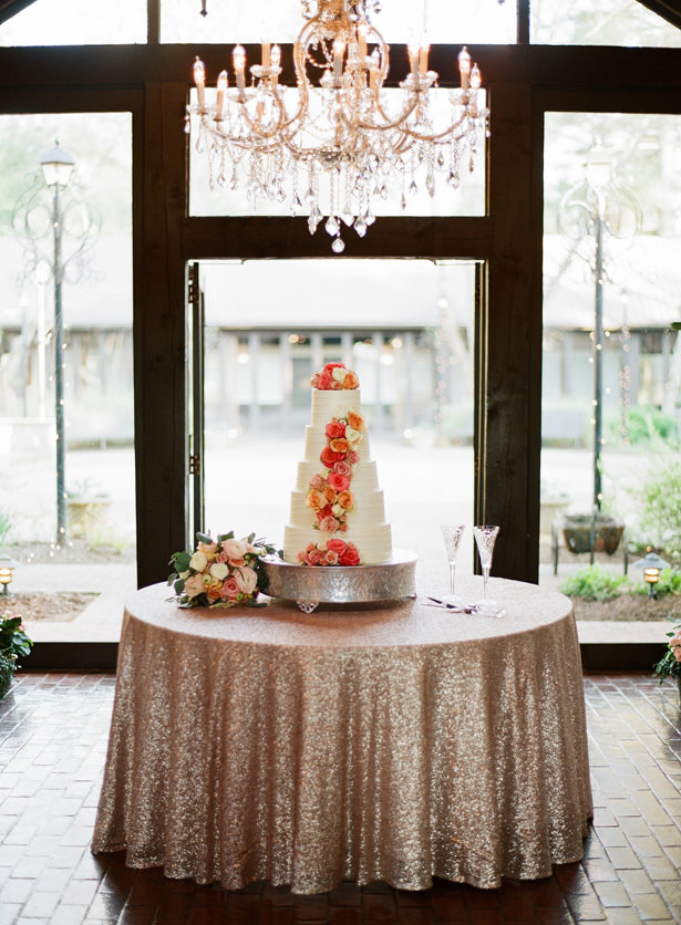 Sophisticated Wedding Cake Table - Almond Leaf Studios