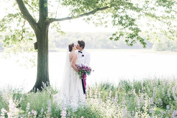 Elegant and Airy Wedding Inspiration Infused With Lavender Hues and Floral Motifs