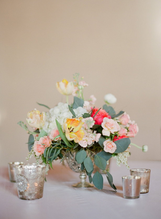 Spring Wedding Table Centerpiece - Almond Leaf Studios