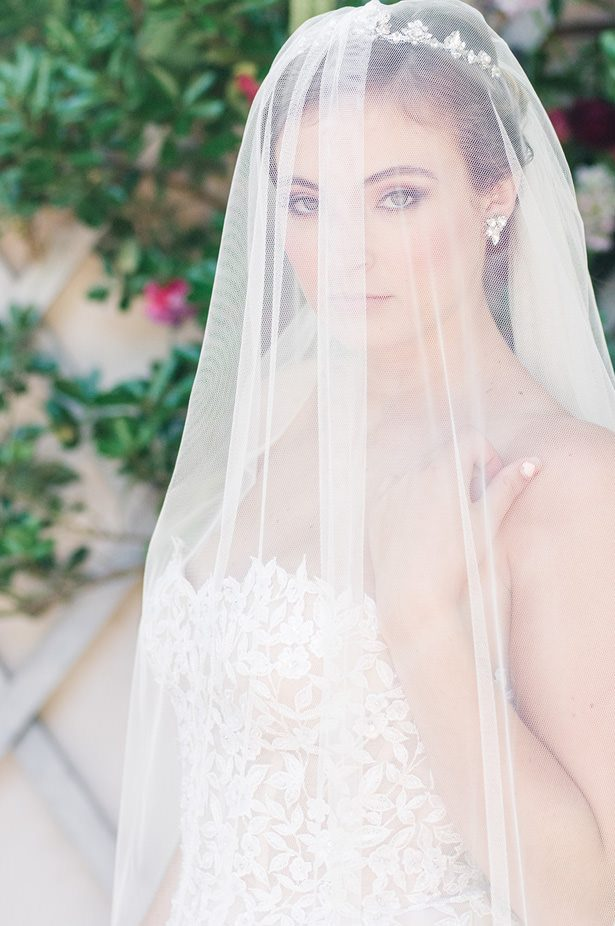 Tulle Wedding Veil - George and Claudia Photography
