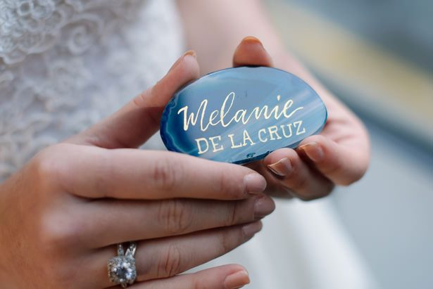 Geode place card - Tell Your Story Photography