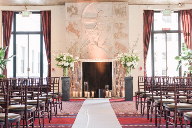 Art Deco Luxury Indoor wedding ceremony - 1985 Luke Photography