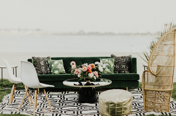 Beach Wedding Lounge - Amy Lynn Photography