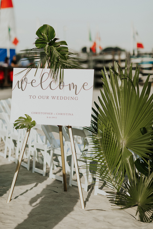 Beach Wedding Sign - Amy Lynn Photography