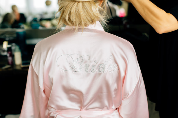 Blush Bridal Robe - Justina Louise Photography