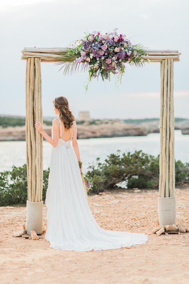 Boho Wedding Arch Centerpiece - Heike Moellers Photography