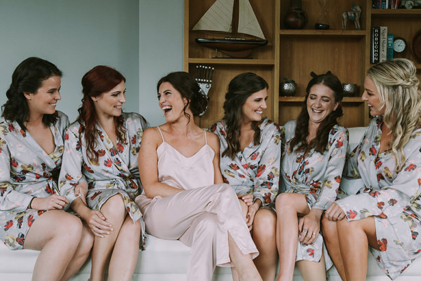 Bridesmaid Matching Floral Robes - Bianca Asher Photography