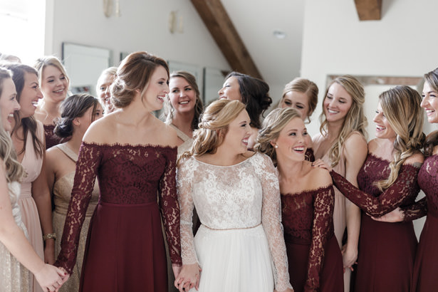 Burgundy Bridesmaid Dresses - Kathy Beaver Photography