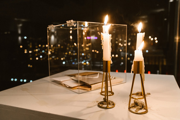Chic Gold wedding decor candles - Bianca Asher Photograp