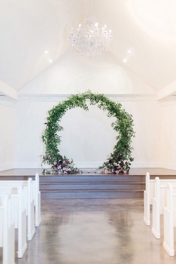 Circular Wedding Arch - Rachel Elaine Photo