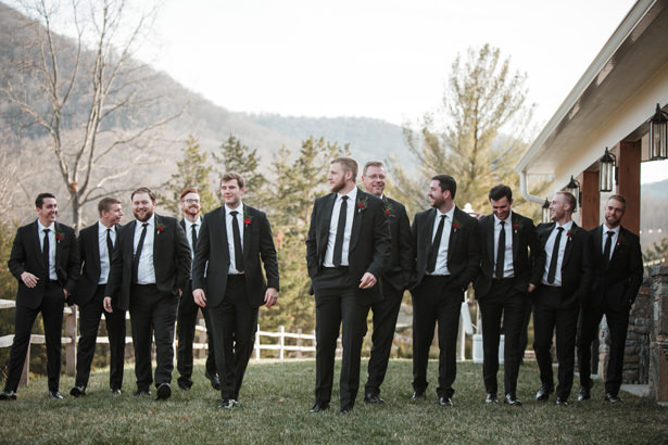 Class Groomsmen Black Suit And Tie - Kathy Beaver Photography