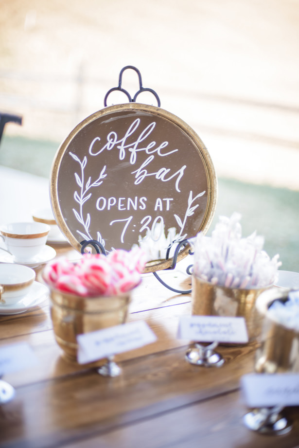 Coffee Wedding Bar Details - Kathy Beaver Photography