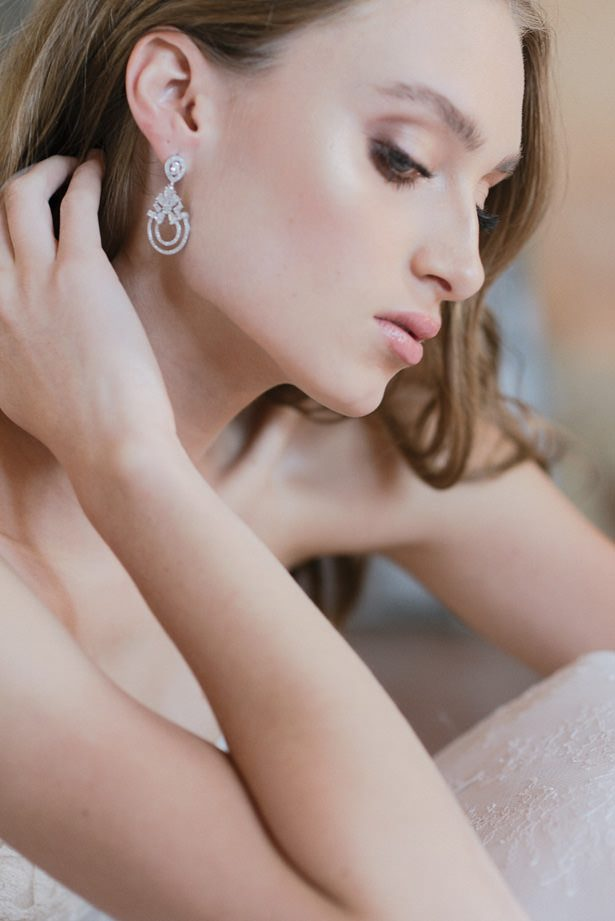 Diamond Wedding Earrings - Sephory Photography