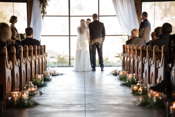 Elegant Winter Wedding Ceremony Decor - Kathy Beaver Photography