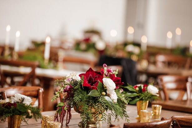 Elegant Winter Wedding Flowers with peony - Kathy Beaver Photography
