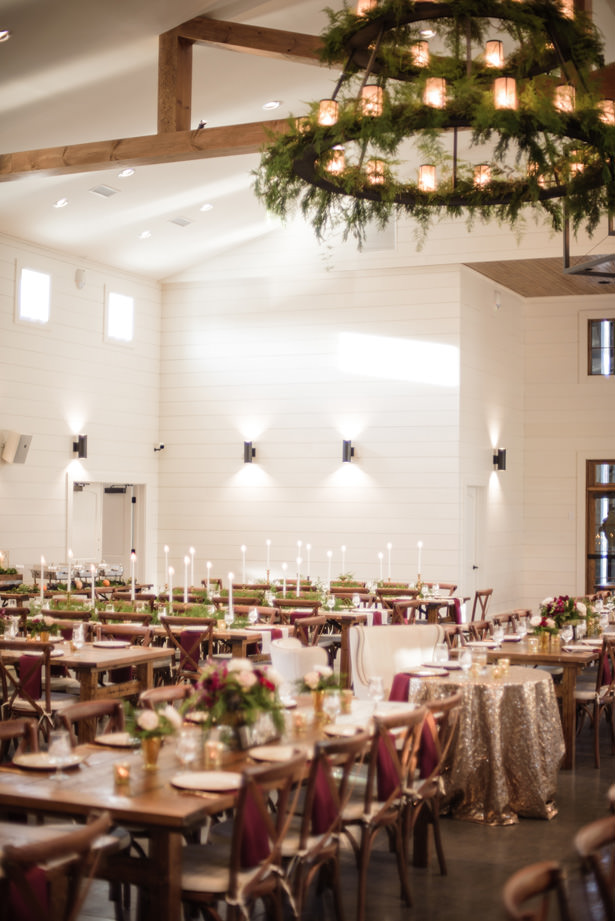 Elegant Winter Wedding Reception Details - Kathy Beaver Photography