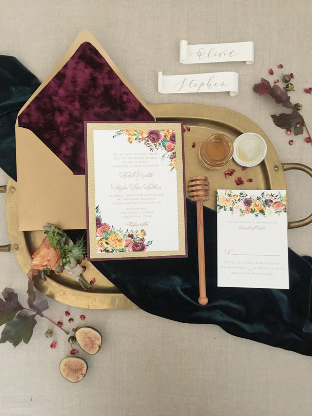 Fall Wedding Invitation - Rachel Elaine Photo