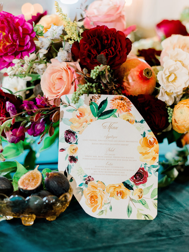 Fall Wedding Menu - Rachel Elaine Photo