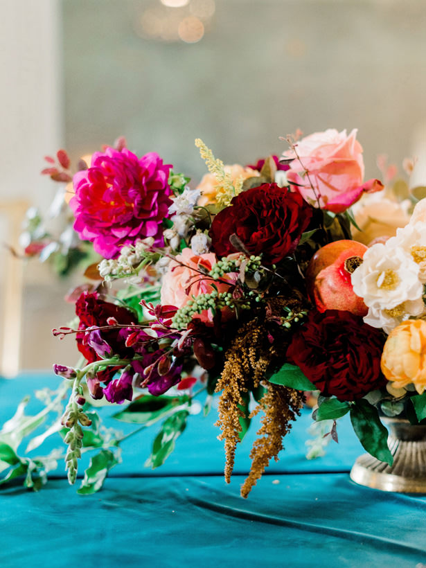 Fall Wedding Table Centerpiece - Rachel Elaine Photo