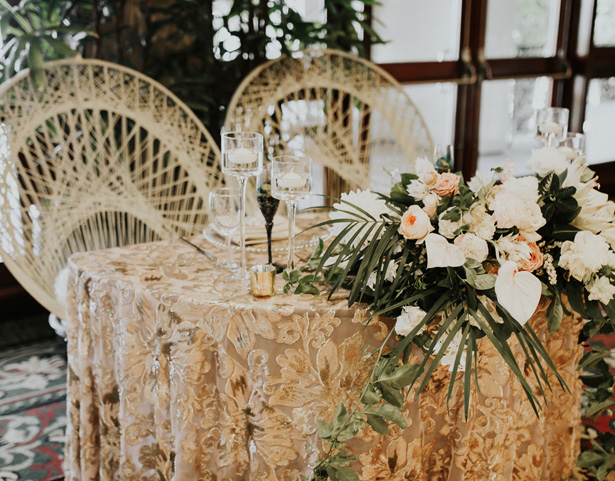 Glam Wedding Sweetheart Table - Amy Lynn Photography