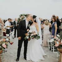 Glamorous Wedding Kiss - Amy Lynn Photography