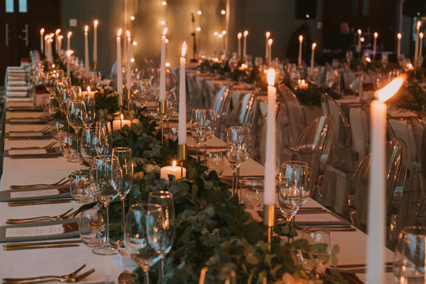 Glamorous Wedding Table with candlelight decor - Bianca Asher Photography