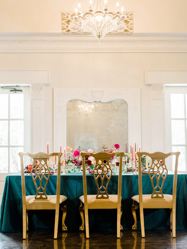 Gold Wedding Chairs - Rachel Elaine Photo