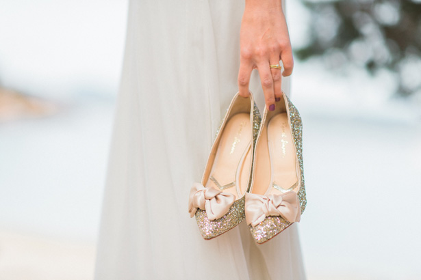 Gold Wedding Shoes - Heike Moellers Photography