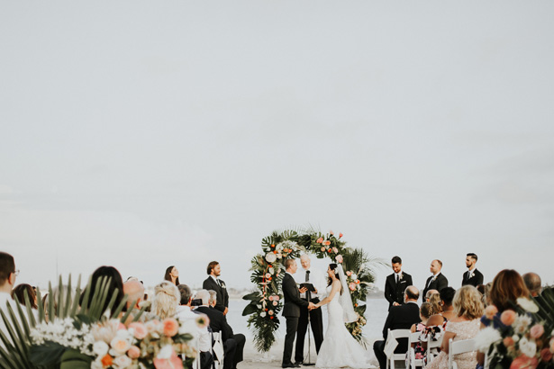 Gorgeous Beach Wedding Ceremony - Amy Lynn Photography